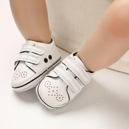 Newborn Baby Boy Crib Shoes Faux Infant Sneakers