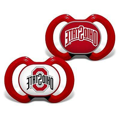 ohio state buckeyes pacifiers 2 pack set