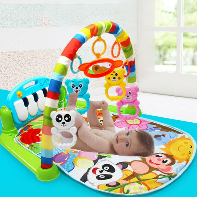 3-in-1 Baby Gym Floor Play Mat Musical Activity Center Kick