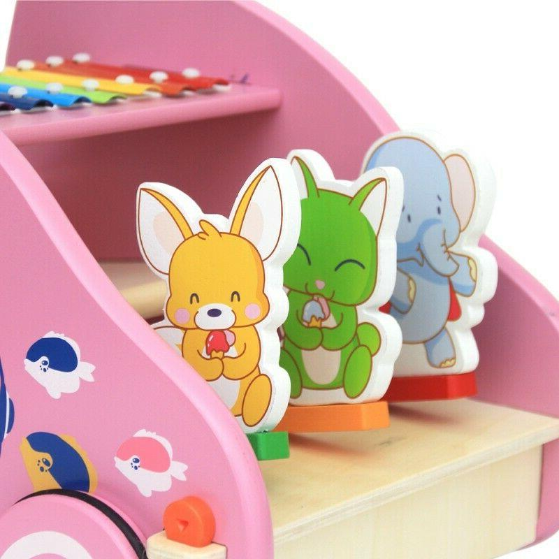 Wooden Baby Toddler Rabbit Roll & Pull Toy