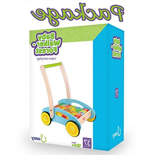 cossy Baby Learning Walker 1 Theme Blocks Cart Pull Toy