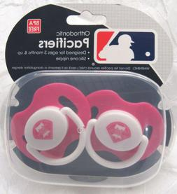 MLB Philadelphia Phillies Pacifier set of Pink Color w/Case