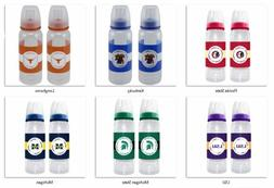 NCAA 2-Pack 9 oz Baby Bottle Set by Baby Fanatic -Select- Te