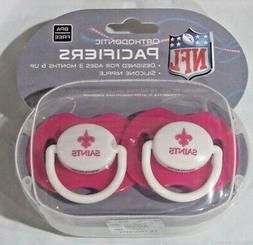NCAA New Orleans Saints Pacifier set of Pink Color w/Case by