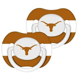 NCAA Texas Longhorns Orthodontic Pacifiers Infant Baby Fanat