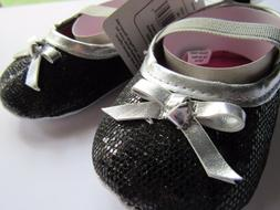 New Luvable Friends Baby Girl Slip-On Baby Bootie Sparkle Bl