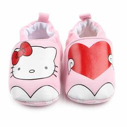 NEW Hello Kitty Baby Girl Pink Heart First Walker Soft Sole