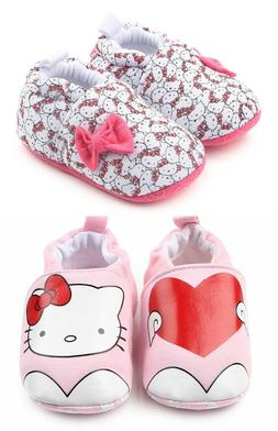 NEW Hello Kitty Baby Girl White Pink First Walker Soft Sole