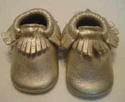 NEW FRESHLY PICKED LEATHER MOCCASIN BABY/ WALKER/ LITTLE KID