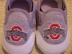 NEW OHIO STATE BABY SHOES PRE WALKERS SIZE 0-6 MONTHS BABY F