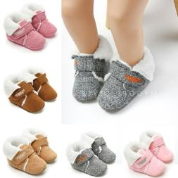 New Winter Baby First Walkers Infant Boys Girls Warm Shoes C