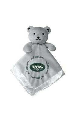 Baby Fanatic New York Jets Gray Security Teddy Bear Blanket