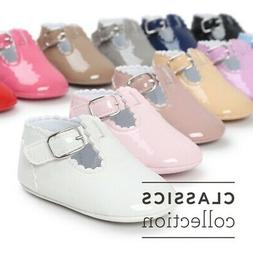 Newborn Baby Kids Girl Pre-Walker White Soft Sole Pram Shoes