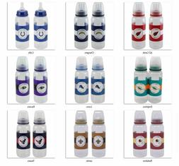 NFL 2-Pack 9 oz Baby Bottle Set by Baby Fanatic -Select- Tea