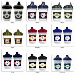 NFL 5oz Spill Proof Sippy Cups 2-Pack by baby fanatic -Selec