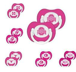 NFL Football Logo PINK Baby Pacifier 2-Pack - New - Pick You