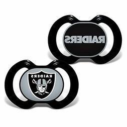 NFL Oakland Raiders Baby Fanatic 2-Piece Pacifier Set