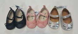 NWT Old Navy Baby Girls Size 3-6 Months Black Pink Silver Ca