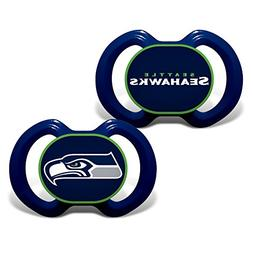 Baby Fanatic 2 Piece Pacifier Set, Seattle Seahawks