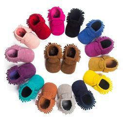 PU Suede Leather Newborn Baby Moccasins Shoes Soft Soled Non