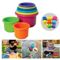 .Stacking Cups Toys Baby Infant Kids Toddler 1 Year Play Dev