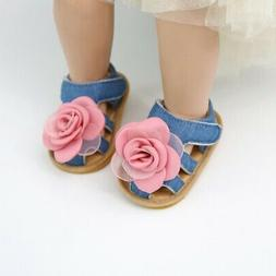 Summer Baby Kids Girls Shoes Toddler Flower Soft Sole Sandal