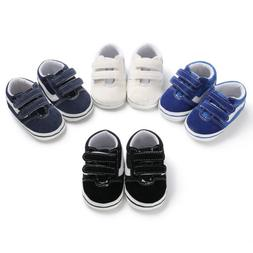 Toddler Baby Boys Pre-Walker Anti-slip Soft Shoes Canvas Sne