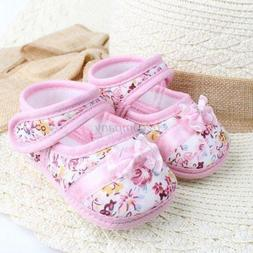 Toddler Baby Girl Shoes Bowknot Boots Cloth First Walker Sof