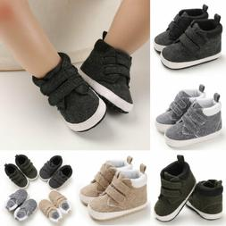 Toddler Crib Baby Boys Shoes First Walker High Top Sneakers
