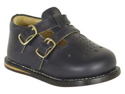 Josmo Toddler's Walker Wide Navy Leather Walking Shoes