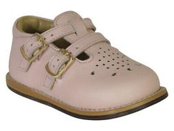 Josmo Toddler's Walker Wide Pink Leather Walking Shoes