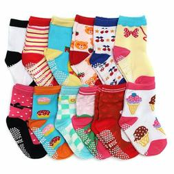 ShoppeWatch 12 Pairs Baby Toddler Socks with Grips Anti-Slip