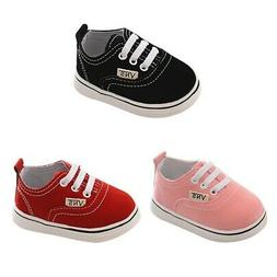 US Baby Boy Girl Anti-Slip Shoes Casual Canvas Sneakers Soft