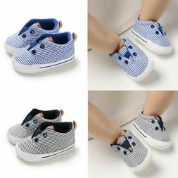 US Newborn Baby Boy Girl Pram Shoes Toddler Pre Walker Canva