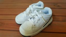 Stride Rite White Baby Leather Shoes Walking Size 7 Wide