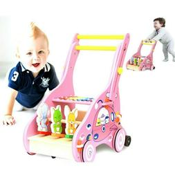 wooden baby learning walker toddler 1 year