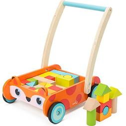 cossy Wooden Baby Learning Walker Toddler Toys for 1 Year Ol