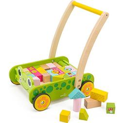cossy Wooden Baby Learning Walker Toddler Toys 1 Year Old, F